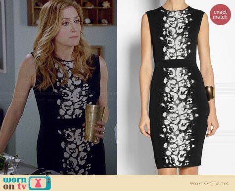 Giambattista Valli Jacquard Stretch Knit Dress worn by Sasha Alexander on Rizzoli & Isles