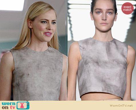 Giambattista Valli Sprint/Summer 2014 Crop Top worn by Amanda Schull on Suits