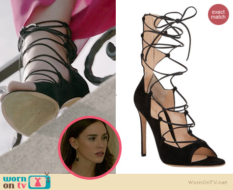 Gianvito Rossi Suede Lace-up Sandals worn by Christa Allen on Revenge