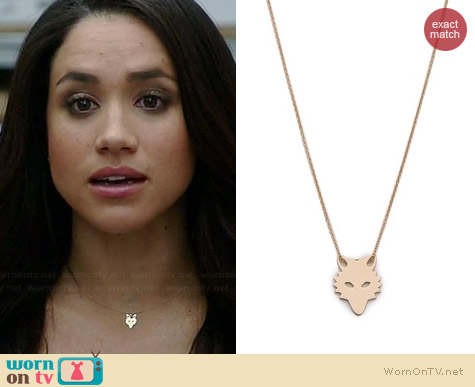 Ginette NY Mini Wolf Necklace worn by Meghan Markle on Suits
