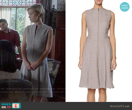 Giorgio Armani Sleeveless Zip-Front Dress worn by Liza Weil on HTGAWM