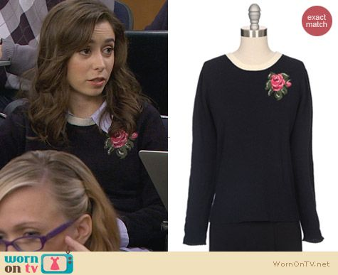 Girl By Band Of Outsiders Rose Intarsia Pullover worn by Cristin Milioti on HIMYM