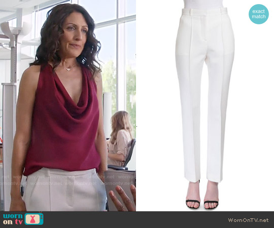 Givenchy Reversible-Seam Skinny-Leg Trousers worn by Lisa Edelstein on GG2D