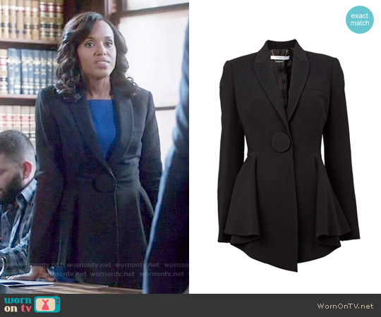 Givenchy Flared Hem Blazer worn by Olivia Pope on Scandal