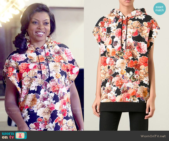 Givenchy Floral Hooded Top worn by Taraji P. Henson on Empire