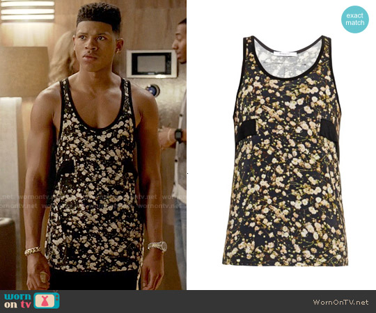 Givenchy Floral Tank Top worn by Bryshere Y. Gray on Empire