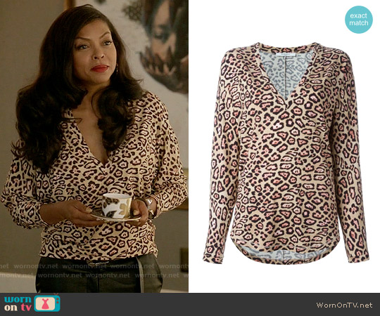 Givenchy Leopard Print T-shirt worn by Taraji P. Henson on Empire