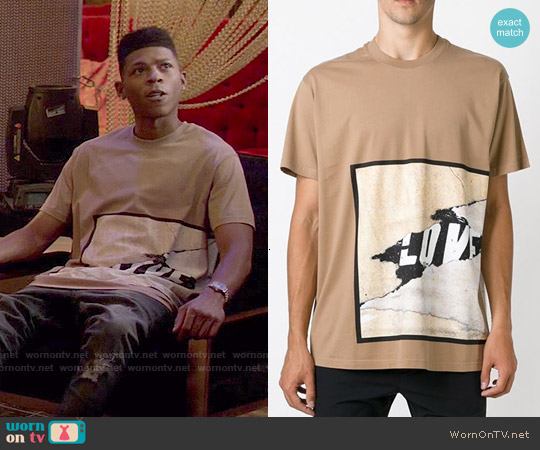 Givenchy Love Print T-shirt worn by Bryshere Y. Gray on Empire