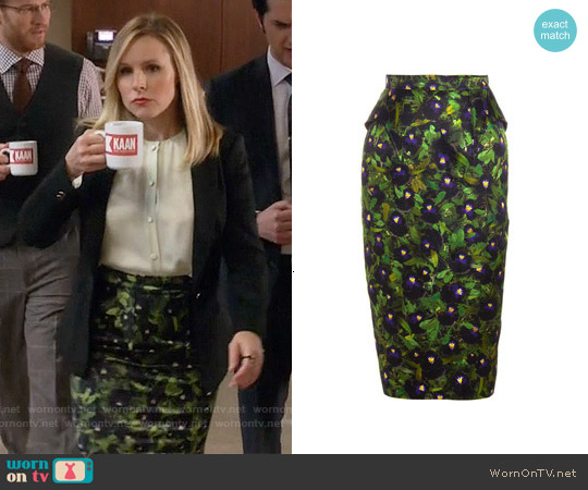 Givenchy Pansy Pencil Skirt worn by Jeannie Van Der Hooven on House Of Lies