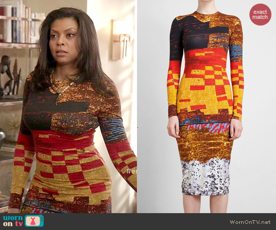 Givenchy Sequin Print Jersey Dress worn by Taraji P. Henson on Empire