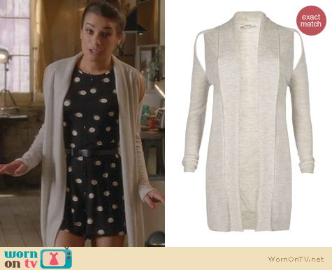 Glee Fashion: All Saints Kadarei Cardigan worn by Lea Michele