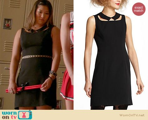 Glee Fashion: Anthropologie Collar Cutout Dress worn by Jenna Ushkowitz