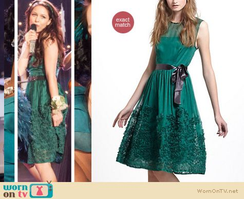 Glee Fashion: Anthropologie Caridad dress worn by Melissa Benoist