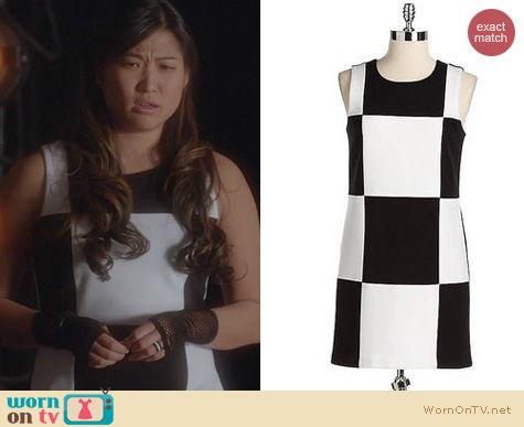 Glee Fashion: Bailey 44 Black and White Checkerboard Dress worn by Jenna Ushkowitz