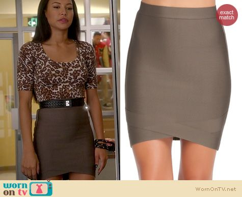 Glee Fashion: Bebe Wrapped Bandage Skirt worn by Naya Rivera