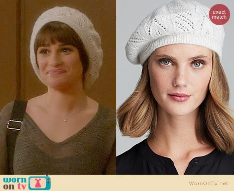Fashion of Glee: C by Bloomingdales Cashmere Pointelle Beret worn by Lea Michele