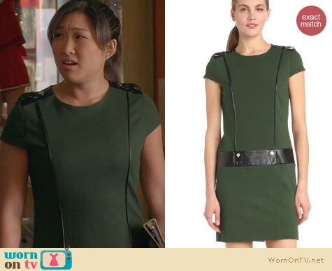 Glee Fashion: Cynthia Steffe Leather Trimmed Dress worn by Tina Cohen-Chang