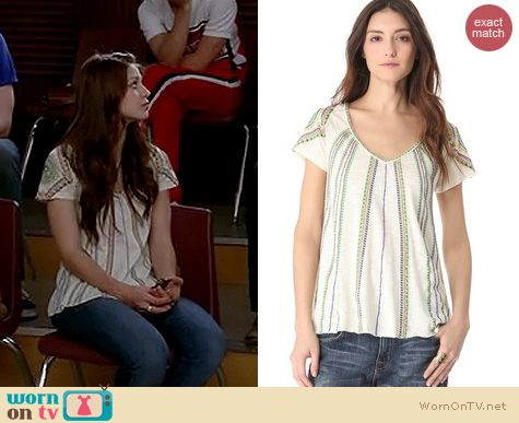 Glee Fashion: Free People Boho Meadow tee worn by Melissa Benoist