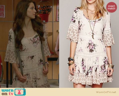 Glee Fashion: Free People Dream Cloud Dress worn by Melissa Benoist