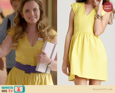 Glee Fashion: French Connection Unno dress in yellow worn by Phoebe Strole