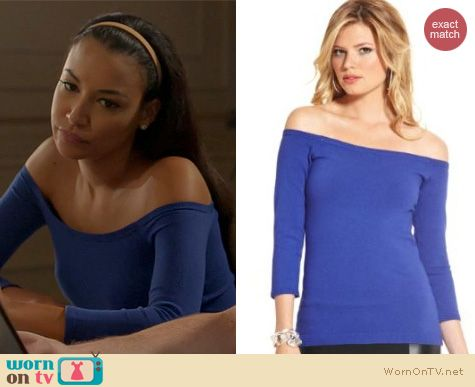 Glee Fashion: Guess Alexandra Top worn by Naya Rivera