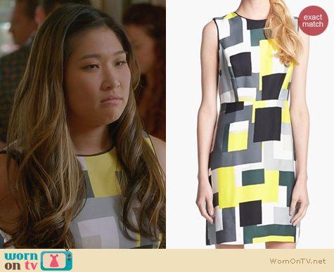 Glee Fashion: Kate Spade Della Manhattan Blocks Dress worn by Jenna Ushkowitz
