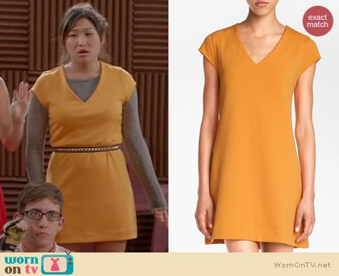 Glee Fashion: Leith V-Neck Shift Dress worn by Jenna Ushkowitz