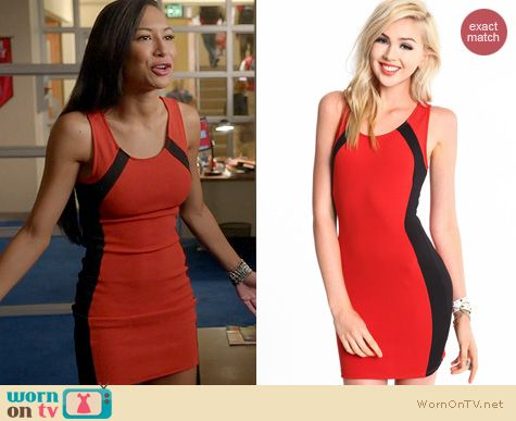 Glee Fashion: Love Culture Curved Lines Dress worn by Naya Rivera