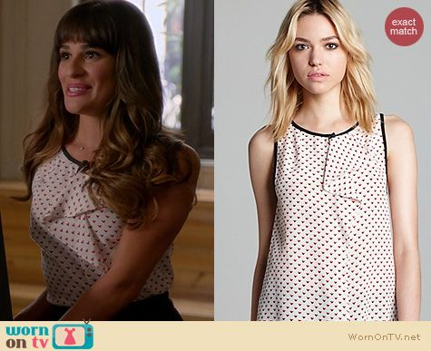 Glee Fashion: Marc by Marc Jacobs Vivie Ruffle Tank worn by Lea Michele