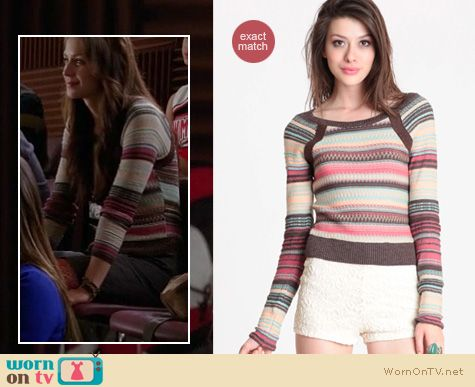 Glee Fashion: Free People striped pullover worn by Marley Rose