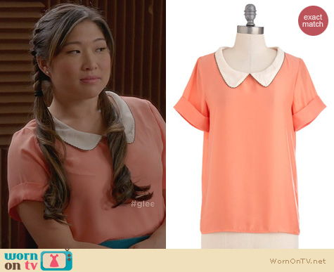 Glee Fashion: ModCloth Peachtree City Top worn by Jenna Ushkowitz