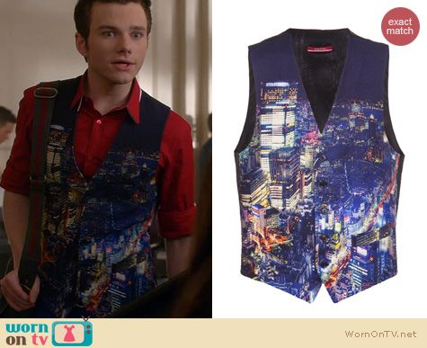Glee Fashion: Moschino City Vest worn by Chris Colfer