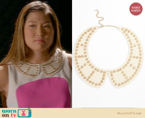 Glee Style: Tildon Studded Collar Necklace worn by Jenna Ushkowitz