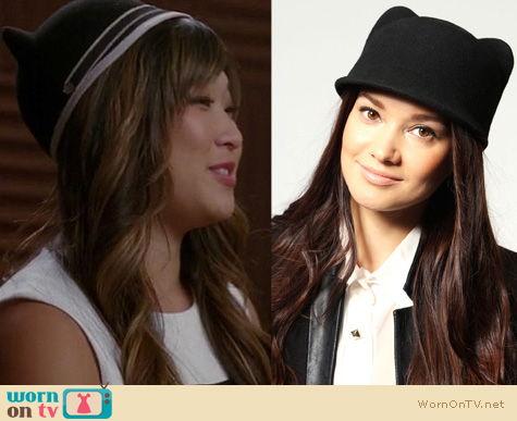 Glee Fashion: Kitty ear hat worn by Jenna Ushkowitz