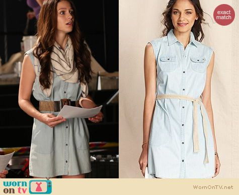 Glee Fashion: Tommy Hilfiger Denim Shirtdress worn by Melissa Benoist