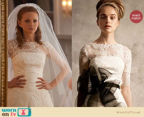 Glee Fashion: Vera Wang wedding gown worn by Emma Pillsbury