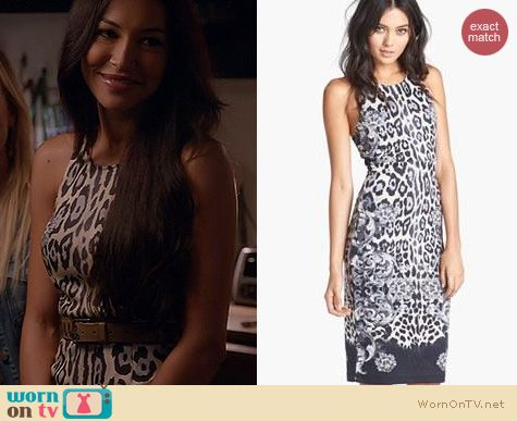 Glee Fashion WAYF Baroque Bodycon Dress worn by Naya Rivera