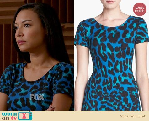 Glee Fashion: WAYF Leopard Spot Bodycon Dress worn by Naya Rivera