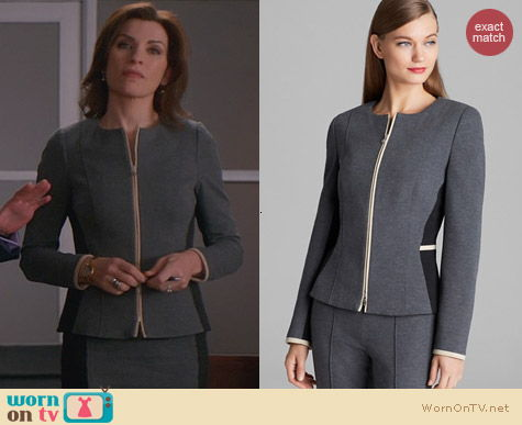 The Good Wife Fashion: Basler Color Block Blazer worn by Alicia Florrick