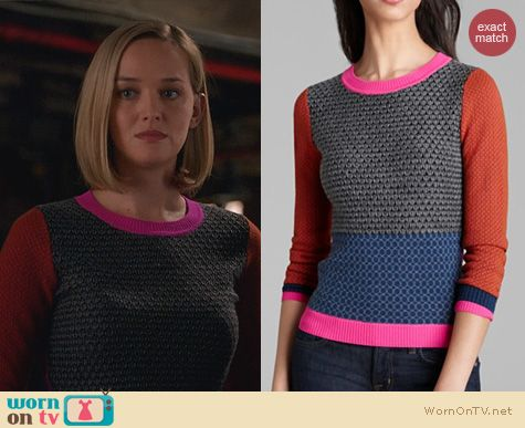 The Good Wife Fashion: Diane von Furstenberg Fairlee Sweater worn by Jess Weixler