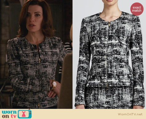 The Good Wife Fashion: Escada Scribble Tweed Jacket worn by Alicia Florrick
