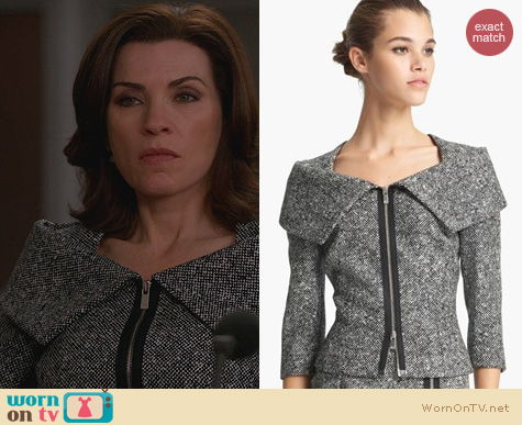 The Good Wife Fashion: Michael Kors Origami Jacket worn by Alicia Florrick