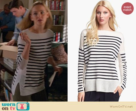 The Good Wife Fashion: Vince Linked Stripe Sweater worn by Jess Weixler