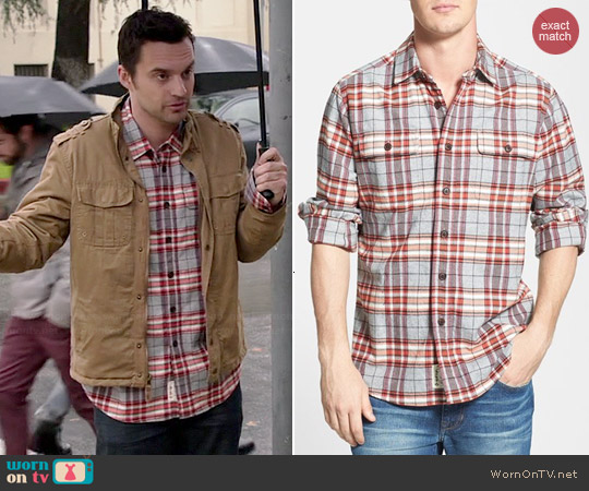 Grayers Heritage Plaid Flannel Shirt worn by Jake Johnson on New Girl