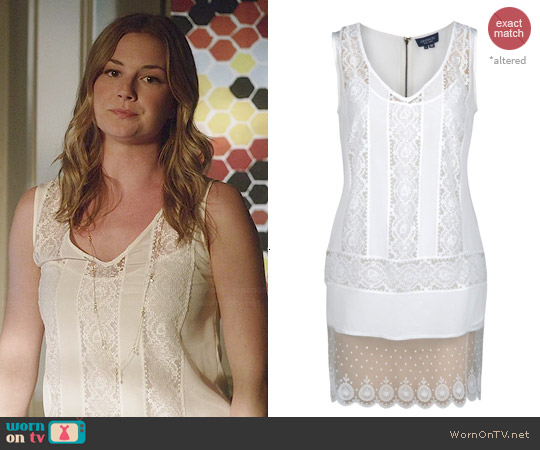 Gryphon Lace Tunic worn by Emily VanCamp on Revenge