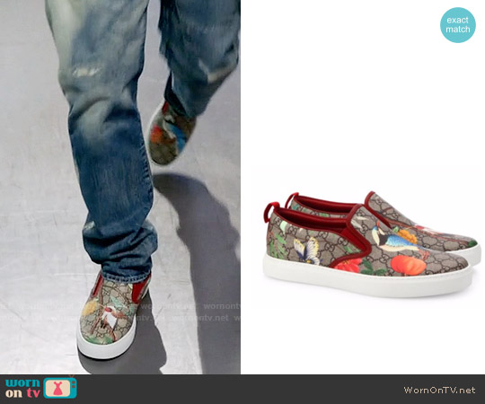 Gucci GG Supreme Tian Print Slip-On Sneakers worn by Andre Johnson on Blackish