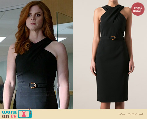 Gucci Belted Waist Dress worn by Sarah Rafferty on Suits