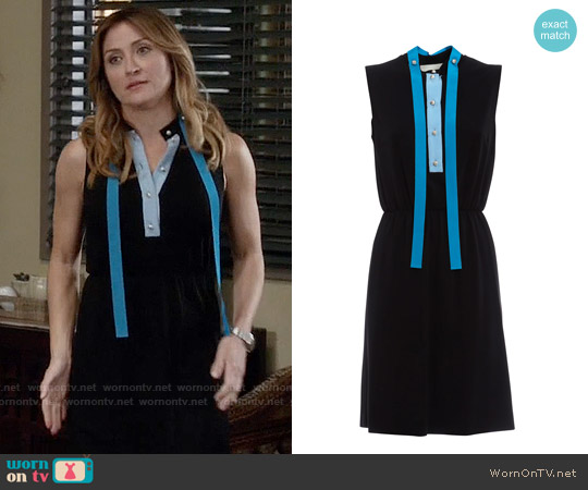 Gucci Contrasting Placket Dress worn by Sasha Alexander on Rizzoli & Isles