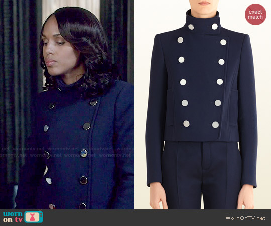 Gucci Wool Double Breasted Jacket worn by Kerry Washington on Scandal