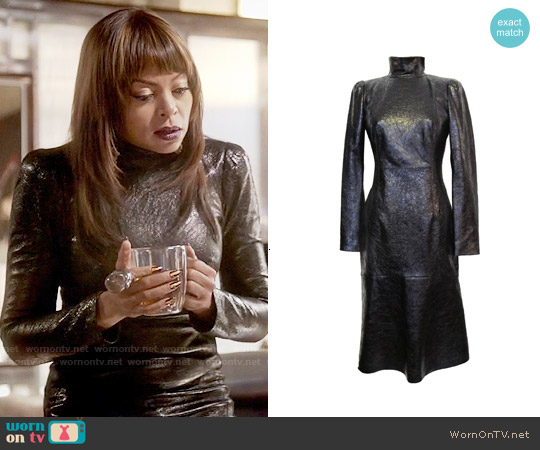 Gucci Fall 2013 Collection Leather Turtleneck worn by Taraji P. Henson on Empire